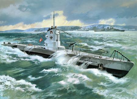 Фотографии германская субмарина, подводная лодка, U-Boat Type 2B, арт