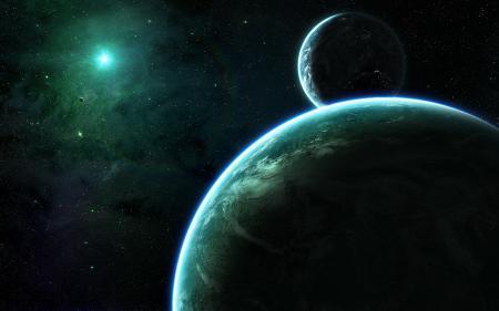 Картинки космос, звезды, планеты, спутники