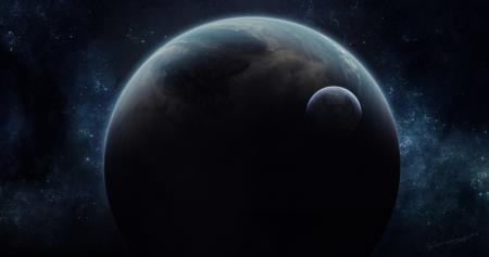 Заставки планета, спутник, космос, звезды