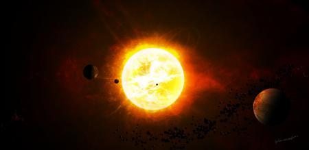 Обои the bitter end, star sistem, планеты, астероиды