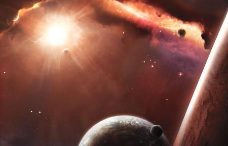 Заставки планеты, атмосфера, звезды, космос