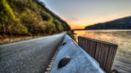 Фотографии природа, дорога, море, река