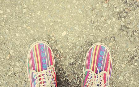 Обои макро, кеды, обувь, яркие