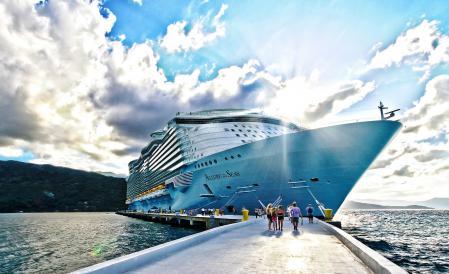Заставки Allure of the Seas, круизное судно, Судно, Причал