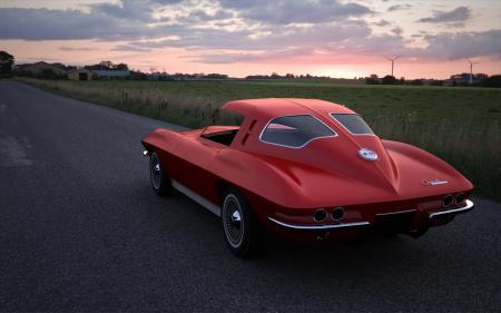 Картинки машина, авто, corvette, корвет