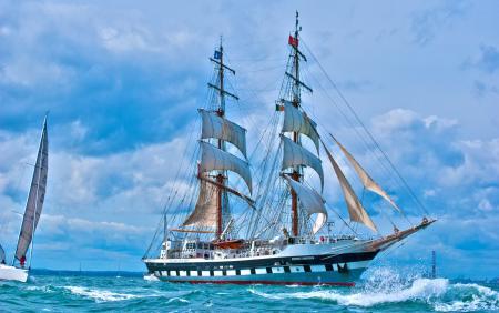 Картинки парусник, море, яхта