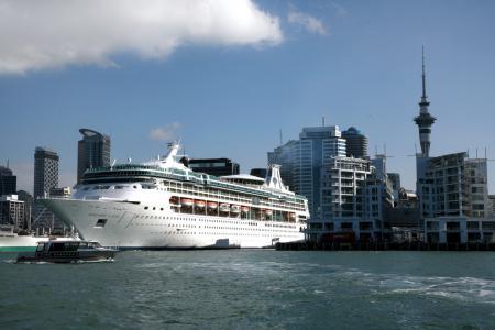 Картинки корабль, круизный лайнер, Port of Auckland, New Zealand