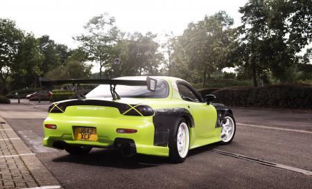 Фото Mazda, RX7, Drift Car, green