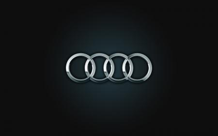 Обои Audi, logo, black, silver