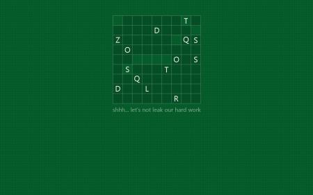 Заставки кроссворд, буквы, зеленый фон, windows 8