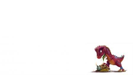 Заставки salvador ramirez madriz, минимализм, динозаврик, черепаха