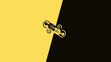 Заставки Минимализм, Чёрный, Жёлтый, Black