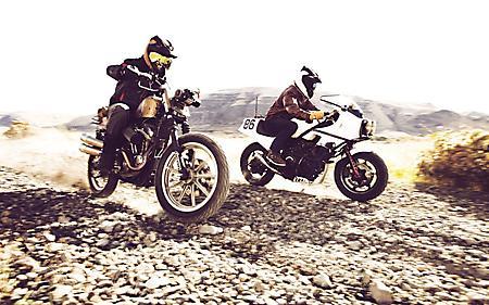 Фото мотогонщики, мотоциклы, скорость, ралли