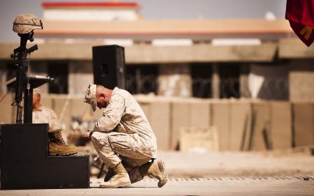 Обои солдат, прощание, смерть
