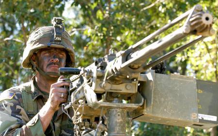 Фото солдат, оружие, пулемёт