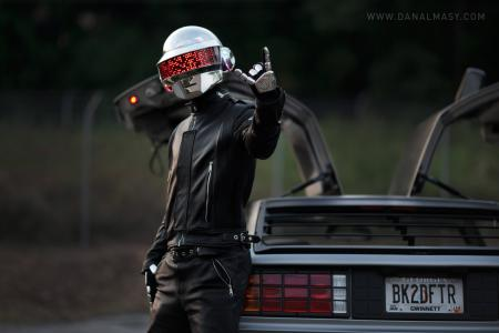 Фото daft punk, de lorean, rock, guy