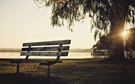 Обои настроения, скамейка, скамья, лавочка