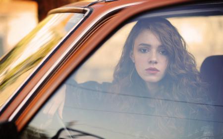 Фотографии девушка, машина, стекло