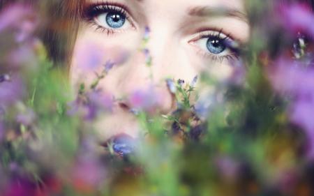 Фото девушка, цветы, лето, настроение