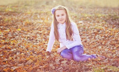 Фотографии Дети, осень, настроение, позитив