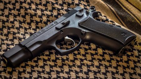 Фото CZ-75BD, пистолет, оружие, ткань