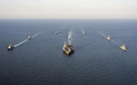 Заставки George Washington, Carrier Strike Group, underway, formation