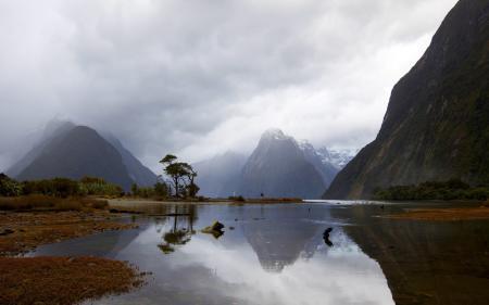 Обои горы, озеро, пейзаж