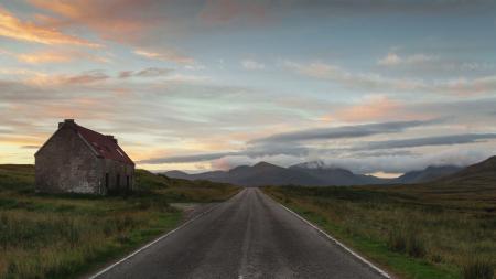 Фотографии Scotland, дорога, здание, постройка