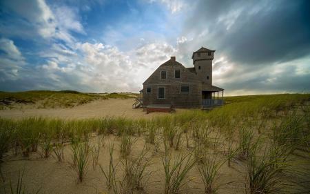 Фотографии дом, поле, песок, пейзаж