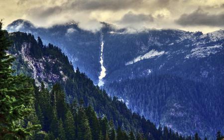 Фото горы, природа, пейзаж, HDR
