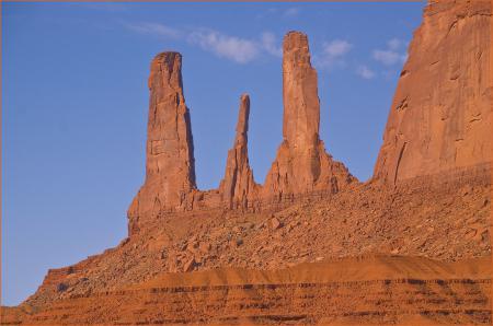 Фото скалы, Три Сестры, долина монументов скалы, юго-запад США