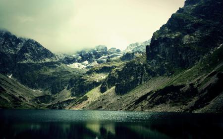 Картинки пейзажи, природа, облака, озера