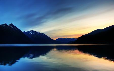 Фото Glacier Bay, гладь, озеро, закат
