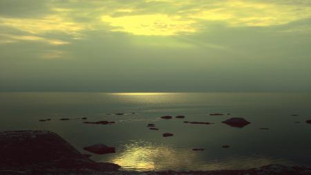 Фотографии море, пляж, закат, небо