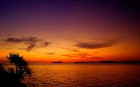 Заставки Moonrise, after, Sunset