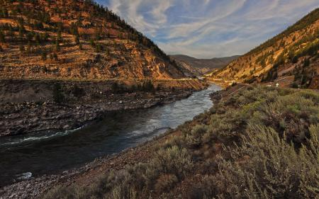 Фото Thompson, долина, река, горы
