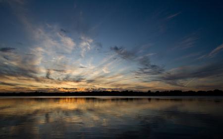 Картинки небо, озеро, закат