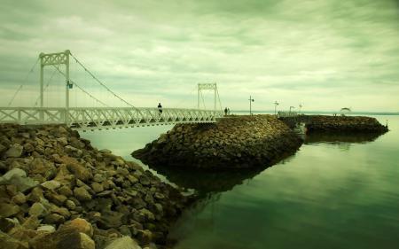 Заставки пейзажи, обои, мосты, люди