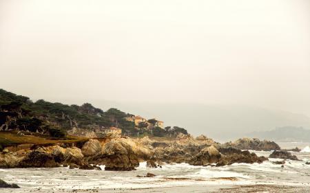 Фотографии калифорния, California, прибой, камни