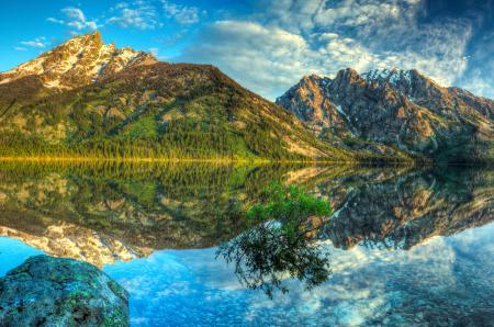 Картинки гора, отражение, озеро