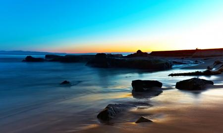 Обои море, небо, пляж, камни