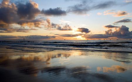 Обои пейзаж, море, волны, небо
