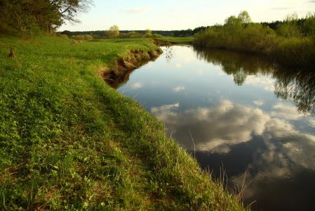 Картинки пейзаж, река, природа, облака