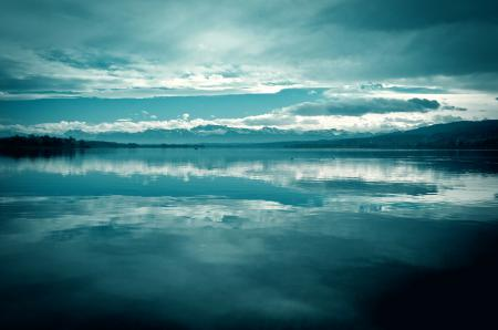 Фото спокойствие, озеро, небо, горы
