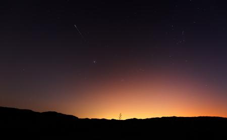 Фото утро, ночь, небо, метеор