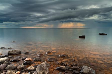 Фотографии шторм, небо, тучи, камни