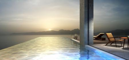 Заставки солнце, рассвет, море, бассейн