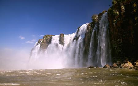Заставки водопад, игуасу, бразилия, природа