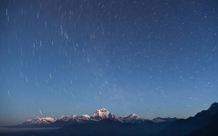 Заставки Гималаи, горы, небо, звезды
