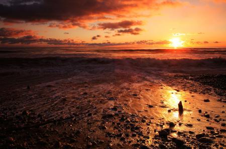 Обои небо, море, золотой, пляж